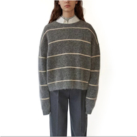 High Quality Women Sweater New Pullover Winter Tops Cashmere Striped Autumn Female Sweaters Hot Sale Loose
