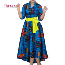autumn 2018 dress women elegant Bazin african dresses for Dashiki African Print Splice Dresses Traditional Clothes WY408