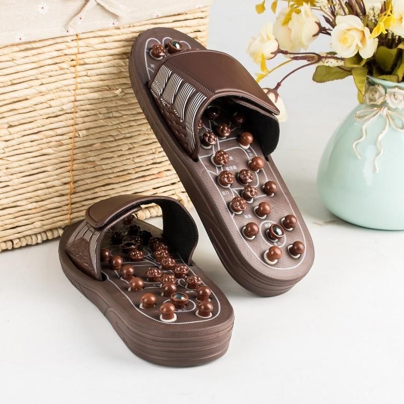 Massage Slipper Shoes Unisex Summer Slipper Acupoint Healthcare Slipper Health Rotating Accupressure Foot Slippers Men&Women