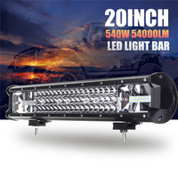 540W 20 Inch Led Light Bar Combo Spot Flood Beam LED Work Light for Driving Offroad Boat Car Tractor Truck 4x4 SUV ATV 12V 24V