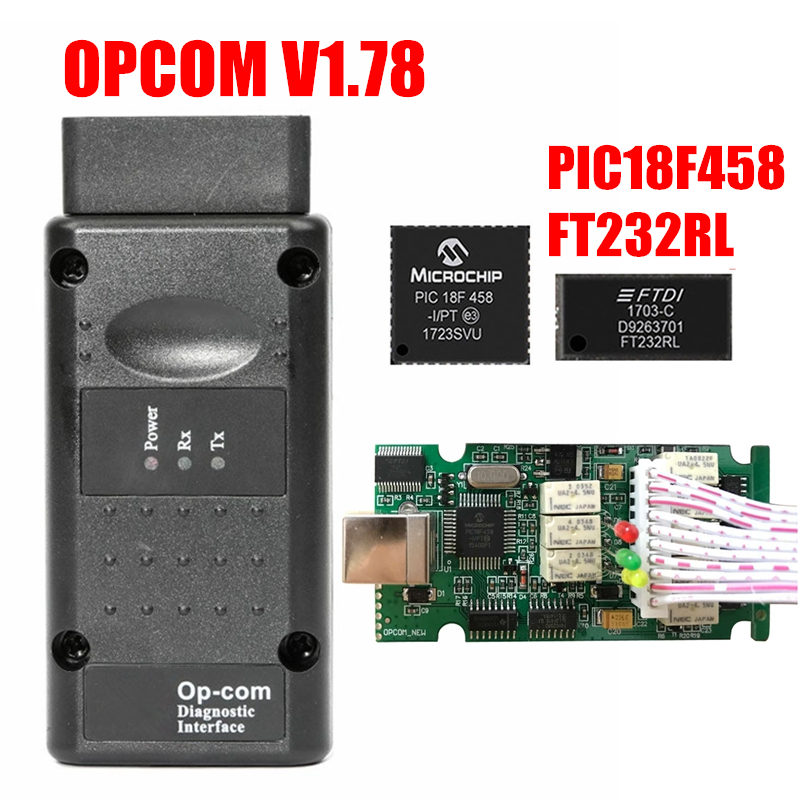 Image 3 - 2019 OPCOM Firmware V1.59 V1.65 V1.70 V1.78 V1.95 V1.99 PIC18F458+FTDI Chip OP COM 1.99 Newest SW 2014 Op com For Opel-in Car Diagnostic Cables & Connectors from Automobiles & Motorcycles