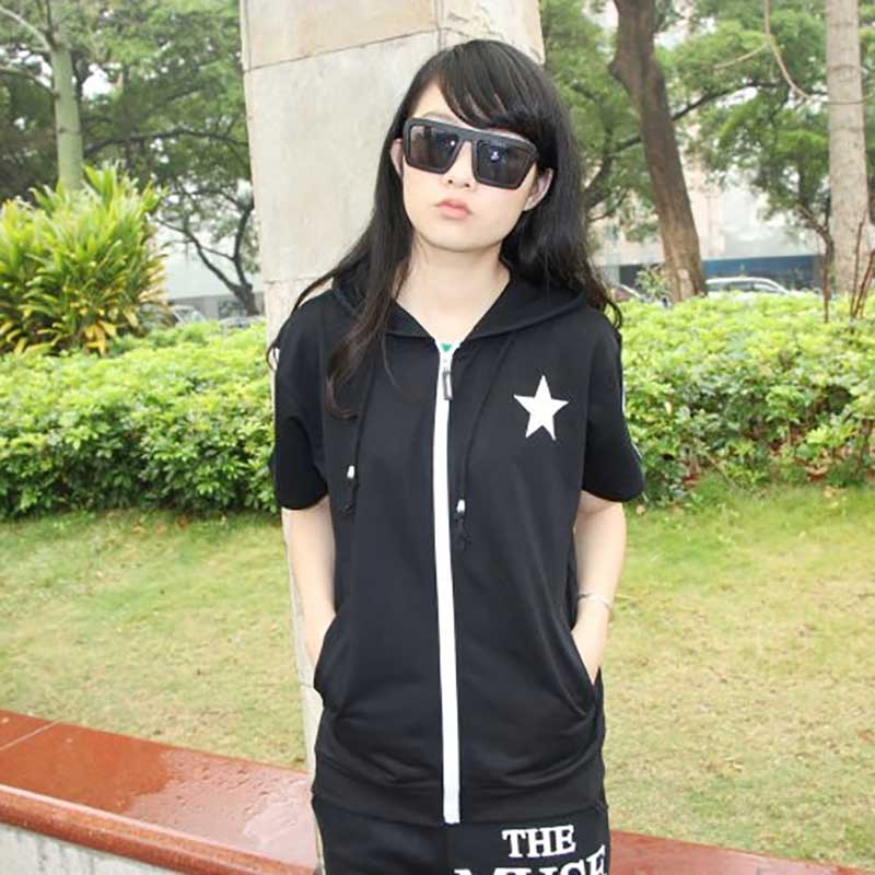 Black Rock Shooter hooded Coat women Clothing short sleeved Hoodie anime cosplay costume daily fashion Jacket unisex Outfit