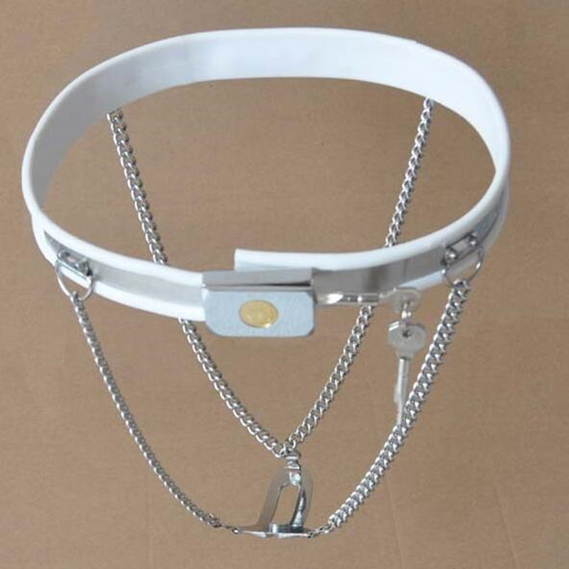 White lock double Y invisible chain female chastity belt fetish bdsm bondage erotic toys adult sex toys for couples sex products chastity pink and black female chastity belt slave bra underwear fetish sex bondage set adult sex toys for couples