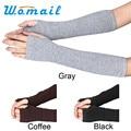 Shocking Show Winter Wrist Arm Hand Warmer Knitted Long Fingerless Gloves Mitten