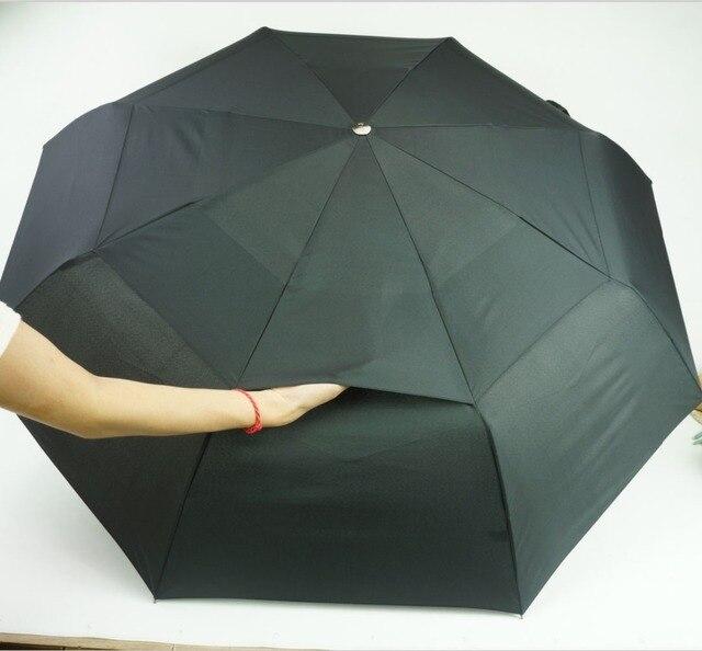 Hot selling automatic folding umbrella men black and blue quality windproof uv umbrellas male stripe free shipping