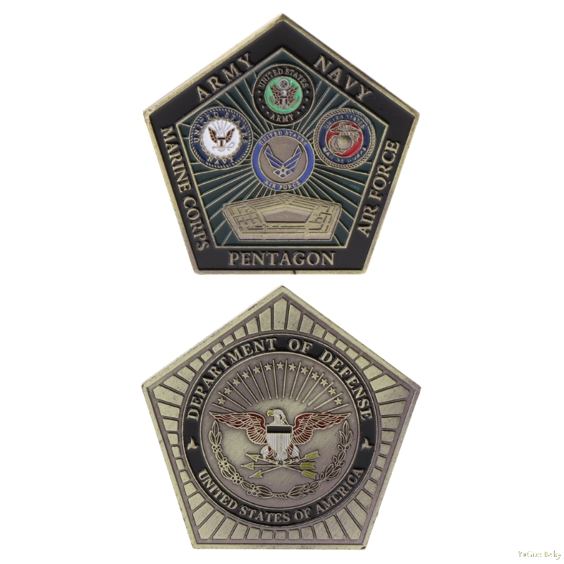 2018 Meaningful Commemorative Coin American Army Marine Pentagon Collection Arts Gifts Souvenir Noncurrent Coin