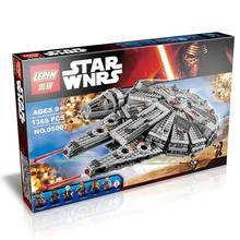 Best Birthday Gift 2016 New 1 set Building Blocks Star Wars The Force Awakens Millennium Falcon Model Kits Rey BB-8 MiniFigures