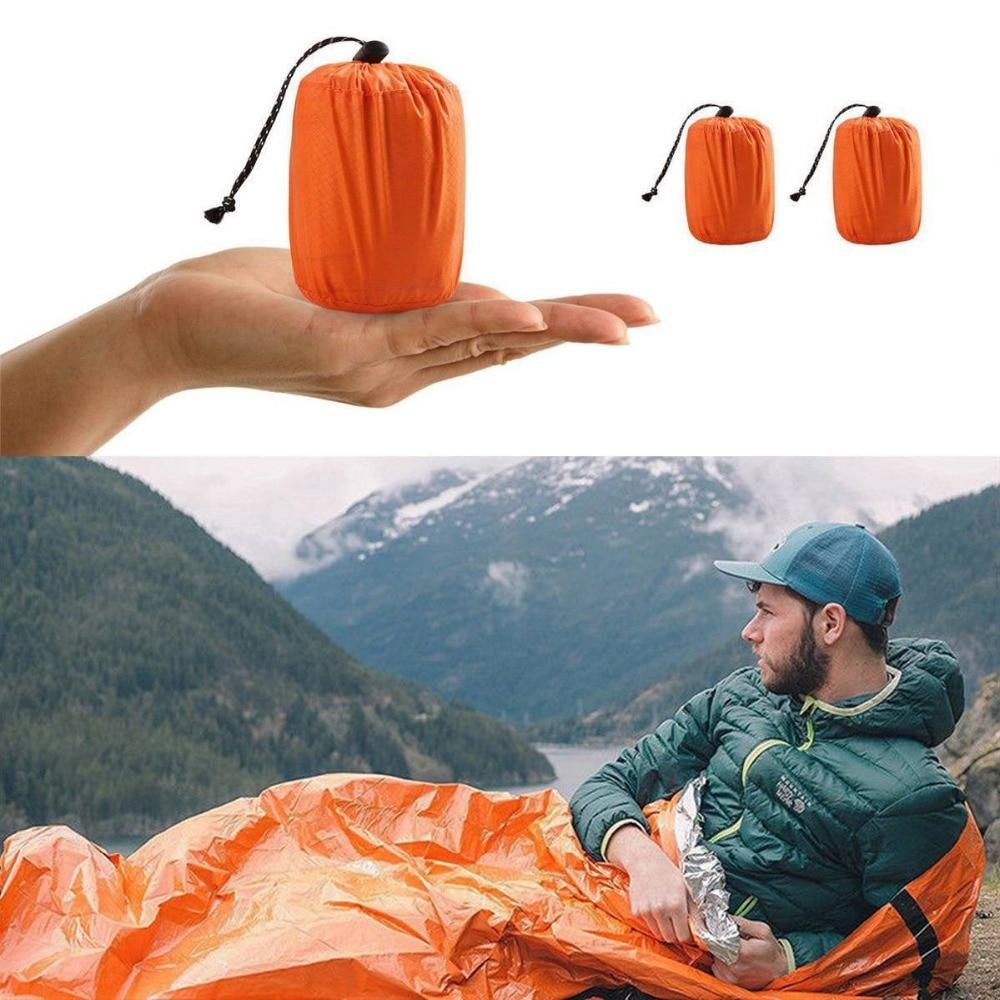 Waterproof  Sleeping Bag Single Bag For Outdoor Survival Camping//Hiking Orange