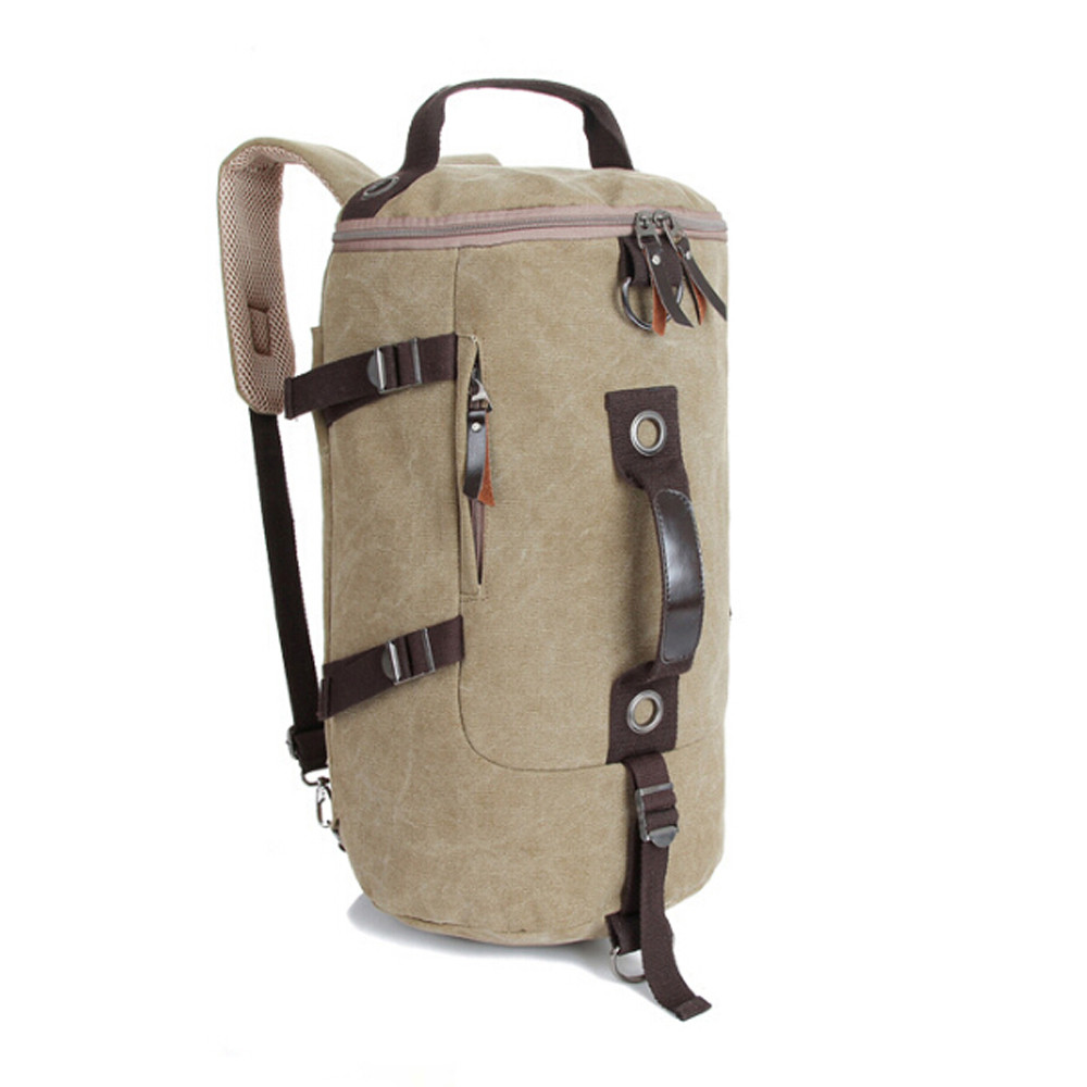 High capacity mans travel bag womens mountaineering large backpack men bags military canvas bucket shoulder bag 2018