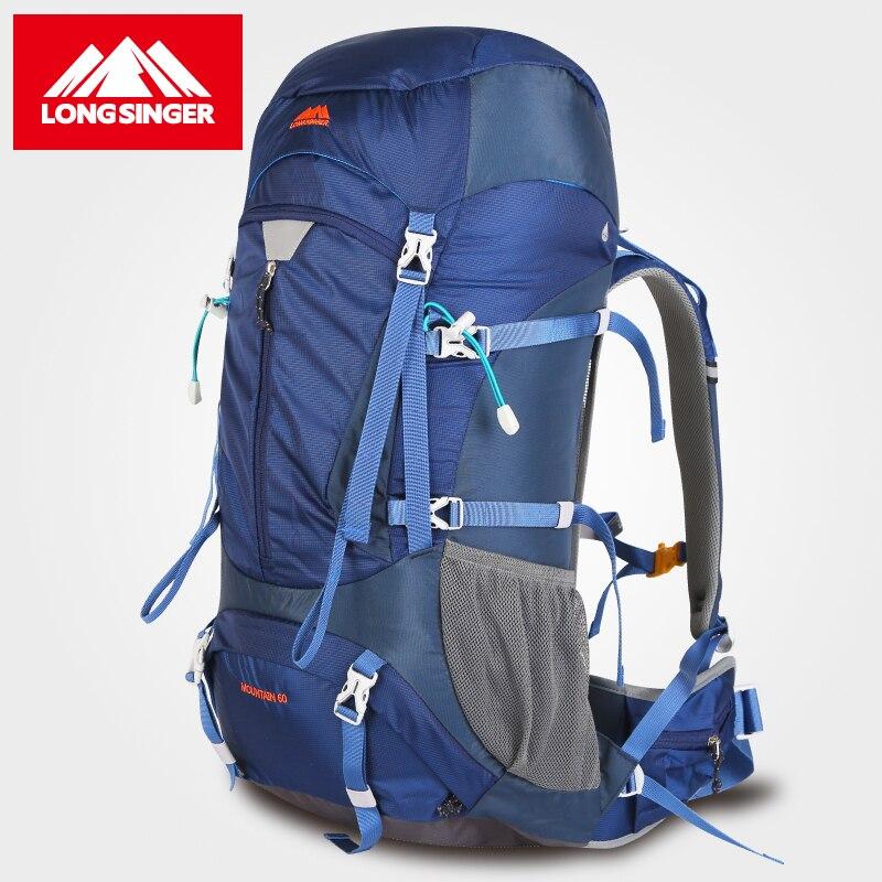 Longsinger Extérieure sac à dos d'alpinisme professionnel sac 60L vlsivery grande capacité voyage sac à dos