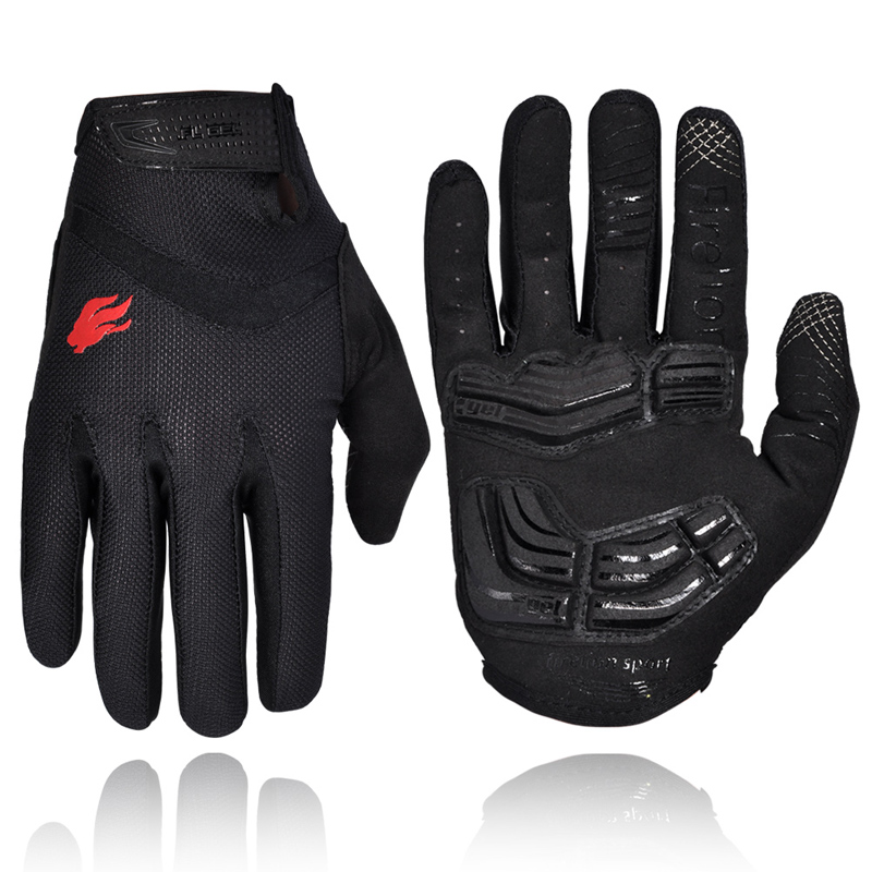 FIRELION Outdoor Full Finger Gel Touch Screen Cycling Gloves Off Road Dirt Mountain Bike Bicycle MTB DH Downhill Motocross Glove