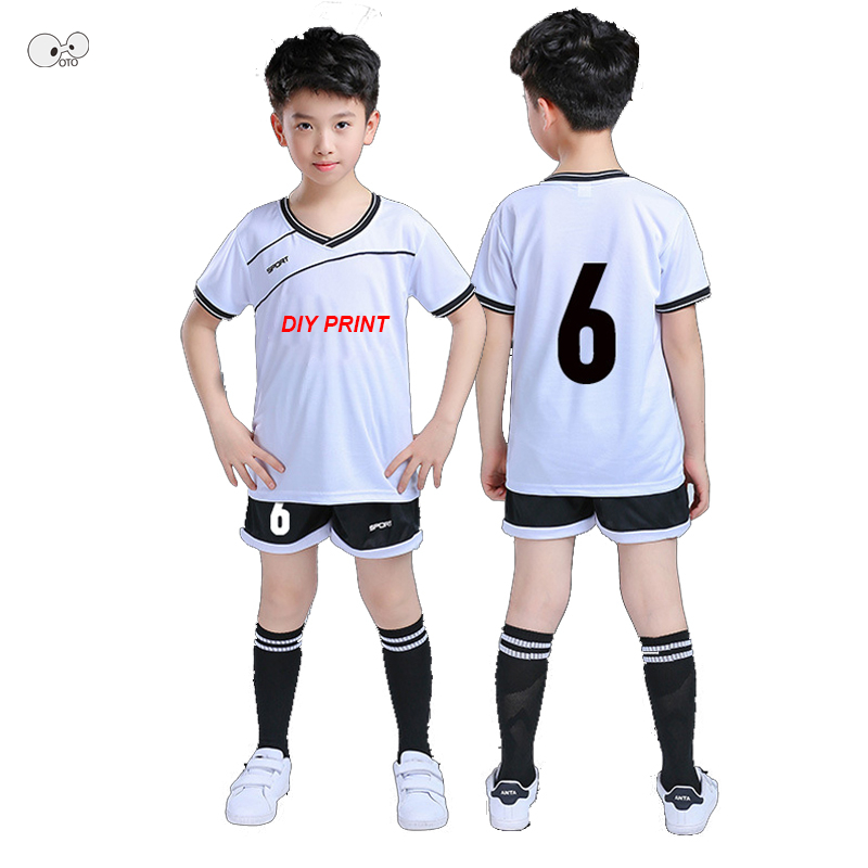DIY Print College team soccer jerseys men customize football kits futbol uniforms kids b ...