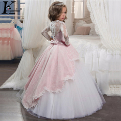 New Princess Girls Dress 2019 Lace Performance Evening Party Dress Carnival Costume Kids Dresses For Girls Wedding Dress Vestido