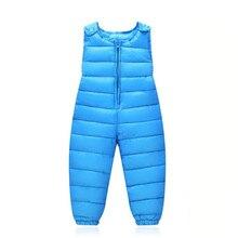 Детские теплые штаны на подтяжках для девочек и мальчиков, зимний пуховый комбинезон, комбинезон, костюм коллекция года, детские повседневные Комбинезоны, комплекты одежды
