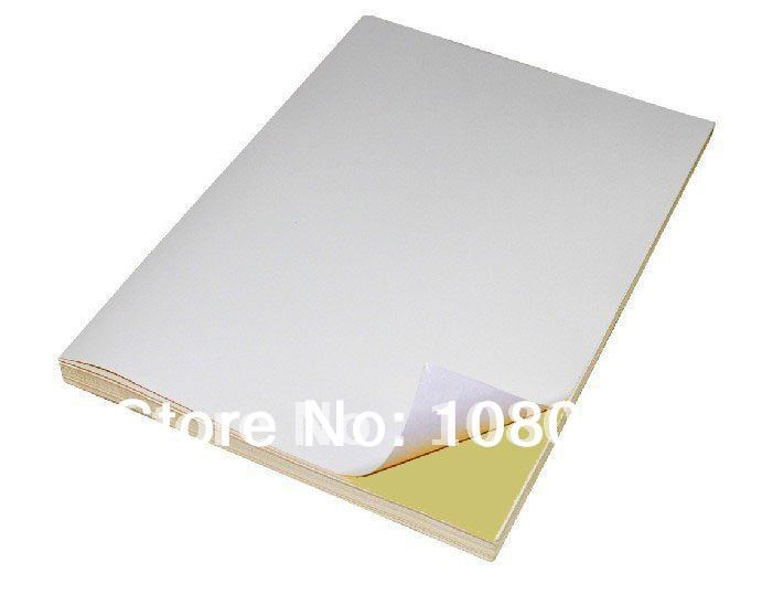 Free shipping A4 adhesive Paper 100 Sheets Glossy Sticker, Self ...