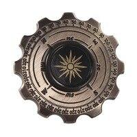 Retro Magic Compass Pirate Handspinner Gear Gyro Finger Metal Fidgetspinner Brass Edc Adult Finger Classic Stress Toys