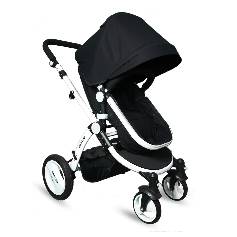 High landscape baby stroller lightweight shock absorber reclining can sit four-wheeled folding umbrella