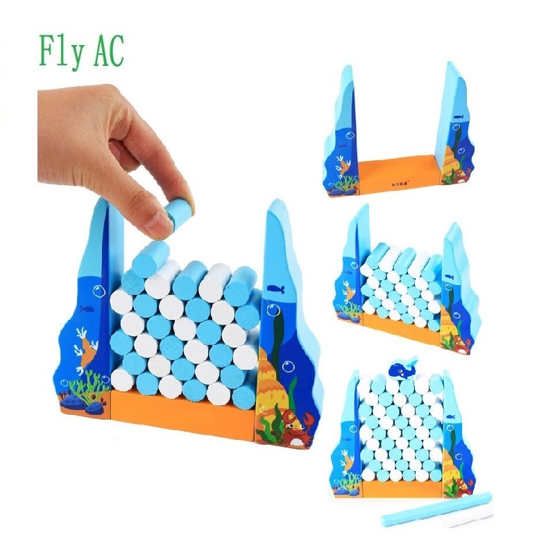 Fly AC Wooden whale Balance Toy Early Learning Toys to Develop Strategic Thinking & Fine Motor Skills Games for Kids