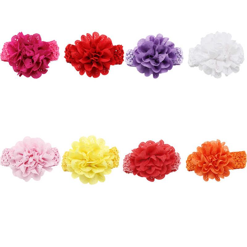 Nouveau-né chapeaux bébé fille porter fleur bandeaux rose dentelle cheveux bandes fille feutre fleur écharpe cheveux accessoires Photo accessoires bébé