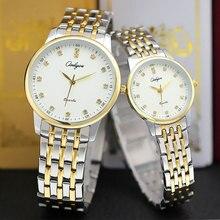 Onlyou senhoras vestido relógios de luxo da marca dos homens das mulheres relógio de quartzo com diamante ouro de aço relógio de pulso masculino relógio feminino assistir 8897