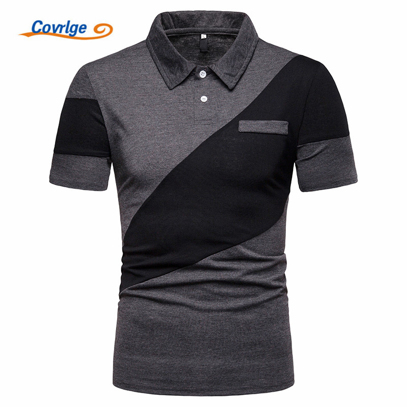 Covrlge Brand New Men 39 s Polo Shirt High Quality Men Cotton Short Sleeve Shirt Brands Jerseys Summer Mens Polo Shirts MTP109 in Polo from Men 39 s Clothing