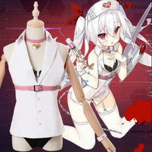 Cos Game Azur Lane Vampire Cosplay Costume Girl White Coat Demon Imp Nurse Uniform