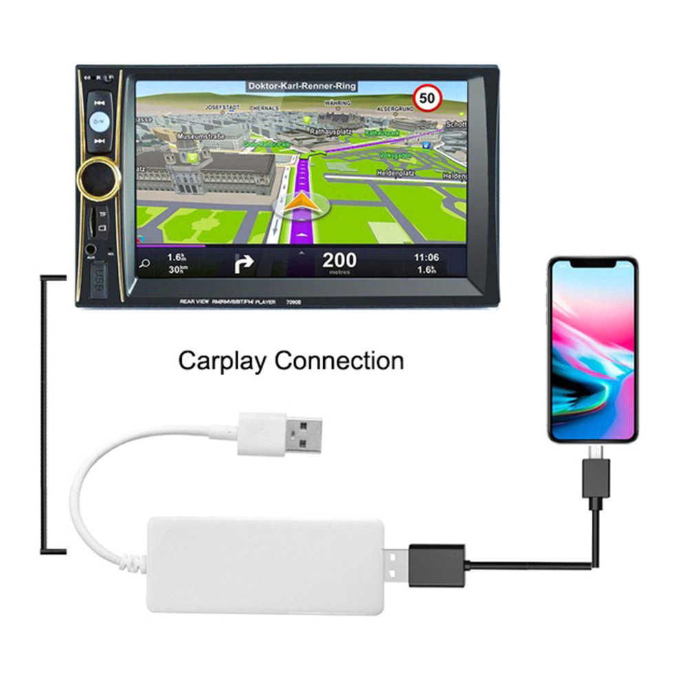 USB Smart UI Link Apple CarPlay Dongle Adapter for Android Navigation Player Mini USB Carplay Stick with Android Auto DY326
