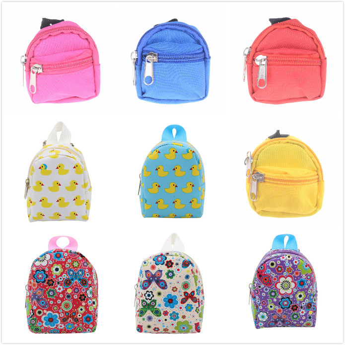 Toys & Hobbies 1pcs Doll Accessories 6 Styles Cute Backpack Schoolbag For 18 Inch Doll Toys For Children Gift For Baby Girl 100% Original Dolls & Stuffed Toys