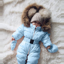 Fashion Winter Coat Infant Baby Jean jacket Boy Girl Jacket Hooded Jumpsuit Warm Thick Coat Outfit Fall Winter clothes roupas(China)