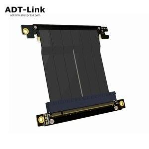 Image 1 - Cabo adaptador de placa mãe pcie x16 para x16, extensão de placas gráficas com ângulo de 90 graus para itx, placa mãe, chassis, mini pc estojo