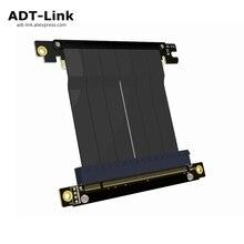 PCIe x16 için x16 adaptör Kablosu grafik video kartları uzatma 90 Derece Açılı tasarım ITX anakart şasi için mini pc  kılıf