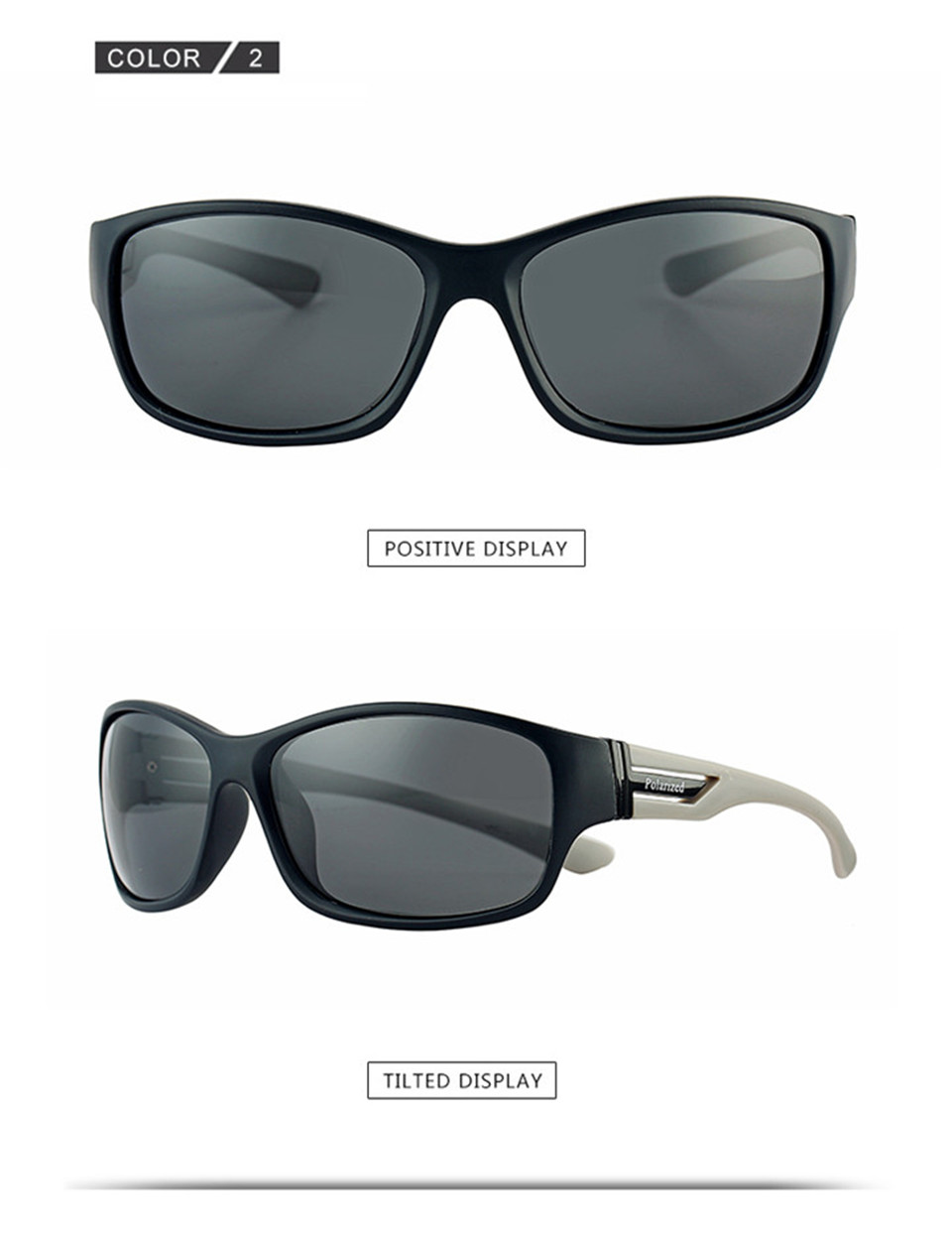 RILIXES 2018 Fashion Guy\'s Sun Glasses From Kdeam Polarized Sunglasses Men Classic Design All-Fit Mirror Sunglass (8)