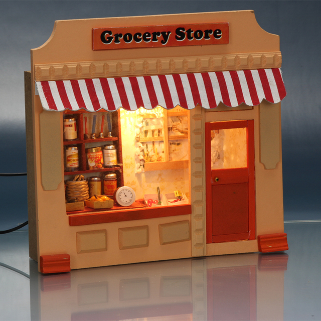 Gift Kids Toys Doll Houses Wooden Doll House Unisex 3d dollhouse Furniture Kids Toy Furniture Miniature Kit Crafts 15805