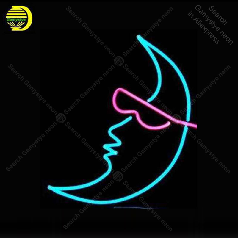 Enseigne néon pour nouvelle lune lunettes de soleil néon ampoules Acade décor affichage Bar Express boutique néon éclairer mur néon enseignes pour chambre Letrero