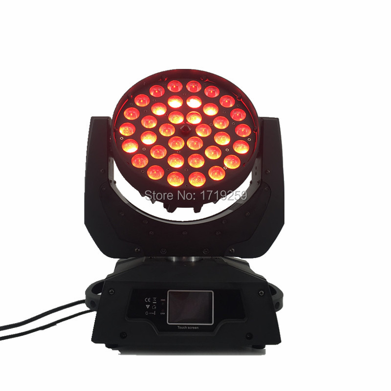 цена на 2pcs/lot LED Wash Zoom Moving Head Light 36x15W RGBWA 5IN1 Touch Screen with 16 Channels SHEHDS Stage Lighting DMX Controller