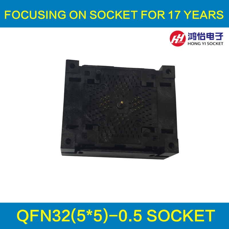все цены на QFN32 MLF32 Burn in Socket IC Test Socket Burn in Socket Opentop Chip Size 5*5 Programming Socket Flash Connector онлайн