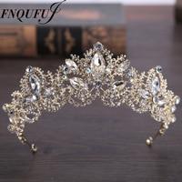 Wedding Crown Headband Tiaras For Women Flower Bride Crystal Tiaras Crowns King Wedding Hair Accessories Fashion