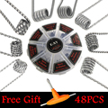 E-XY 8 in 1 Wire Prebuilt Coils Clapton Quad Tiger Hive Alien Fused Clapton Mix Twisted Coil fit DIY Atomizer