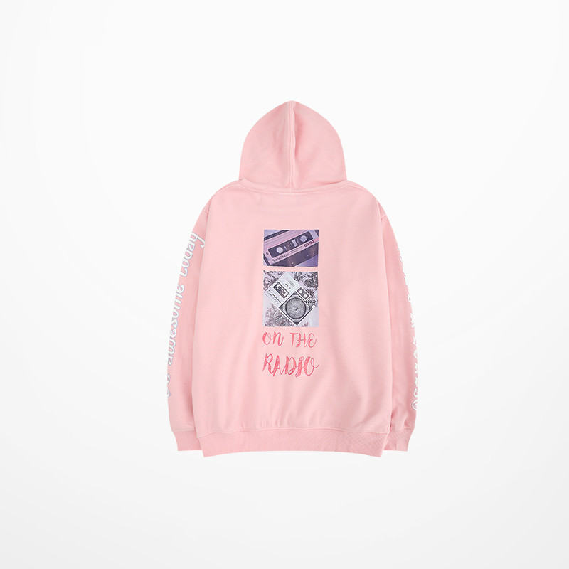 New Arrive 2019 European And American Tide Hoodies Cartoon Bear Punk Drake Pink And Khaki Fashion Sweatshirt Skateboard Kanye Hoodies & Sweatshirts