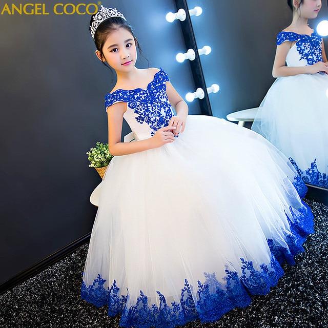 3bfca0eda4857 Girls Sequins Party Princess Dress Beauty Contest Children Wedding Dress  Pompon Piano Host Summer Stage Performance Catwalks