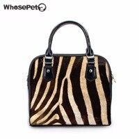 WHOSEPET Zebra Modello delle Donne di Nuovo Modo Tote Bolsas Causale Bowler Bag Ragazze Hobo Messenger di Alta Qualità Piccolo Totes