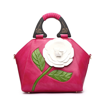 6212 New Fashion luxury handbags women bags designer style women's contrast color Pride's Flower bag Ladies shoulder bag