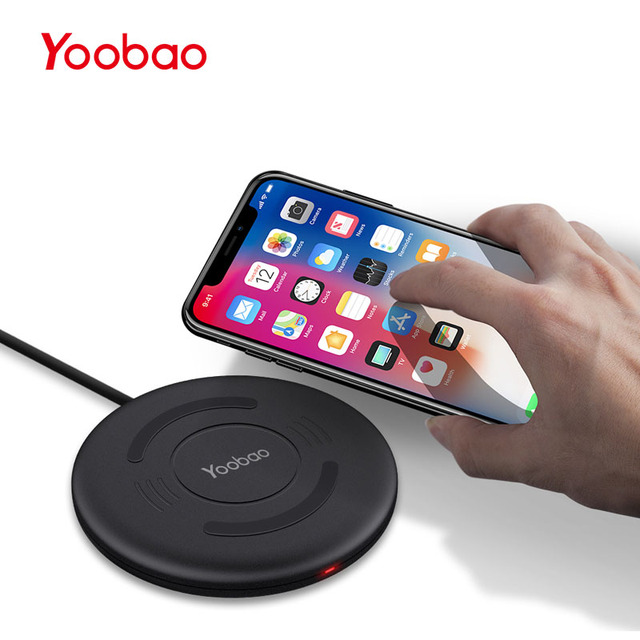 Yoobao Беспроводное зарядное устройство для iPhone 8 X, быстрая зарядка универсальное беспроводное зарядное устройство QI для samsung S8 S7 S6 для Yotaphone 2 телефона