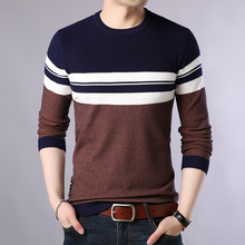 2019 Spring Fashion Mens Sweater Casual O-Neck Slim Men Cotton Knit Pullovers Brand Clothing Size M-4XL