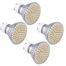 4 X GU10 Ampoule Lampe Spot 3528 SMD 80 LEDs Blanc Chaud 3600K AC 230V  5000k 4W