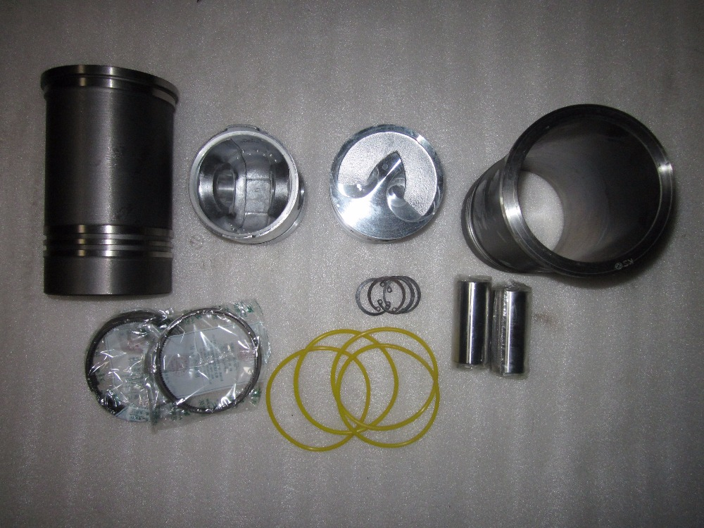 FUJIAN LIJIA engine parts for tractor like Benye BY254, the piston groups for SWIRL engine SL2100T laidong km4l23bt for tractor like luzhong series set of piston groups with gaskets kit including the cylinder head gasket