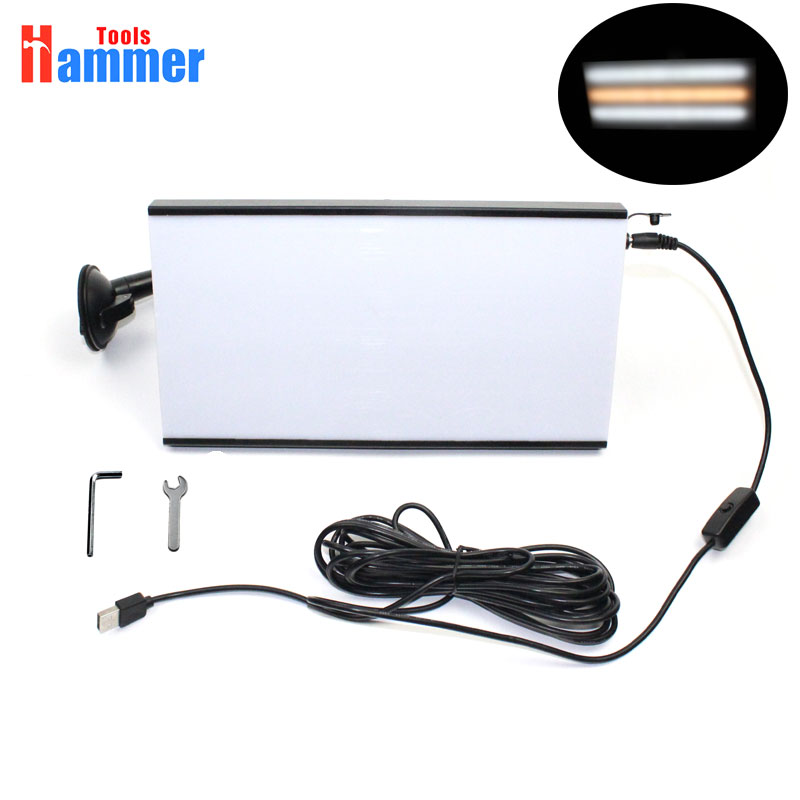 PDR KING Paintless Dent Removal Repair USB LED Line Board Light Scratch Reflector Set