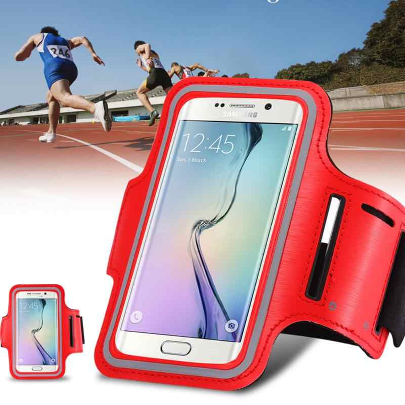 Amarillo Brazalete Deportivo movil Compatible con Samsung Galaxy A80 Running Deporte Funda Banda Deportiva Transpirable Bolsillo para Llaves Cables Auriculares Tarjetas