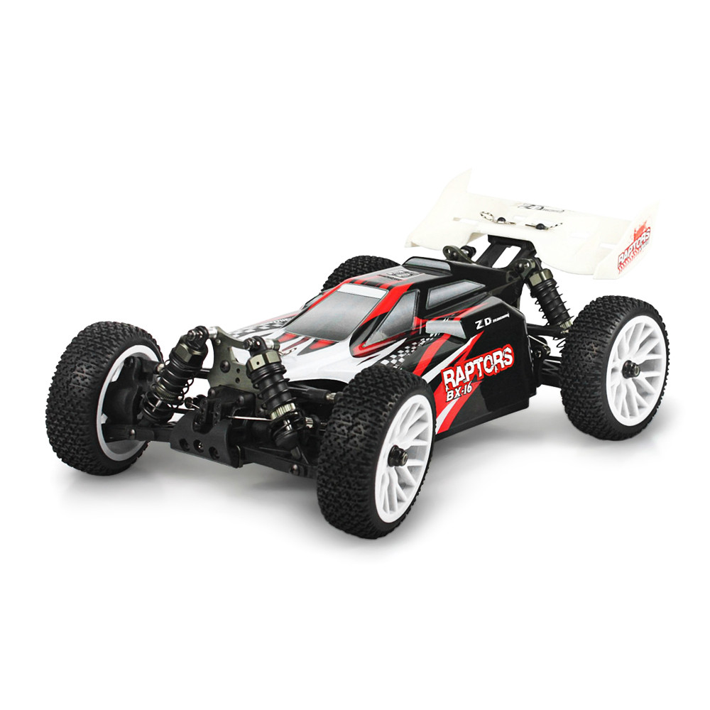 ZD Racing RAPTORS BX-16 9051 1/16 2.4G 4WD 55km/h Brushless Racing RC Car Off-Road Buggy RTR Toys Red Blue Models Kids Gift zd racing 9072 1 8 scale 4wd 60km h speed brushless rc off road buggy rtr