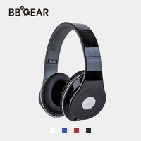 BBGear Stereo Wired Headphones Retractable 3.5mm Jack Foldable Headsets for PC Mobile Phone iPad Computer Wire Control Earphone